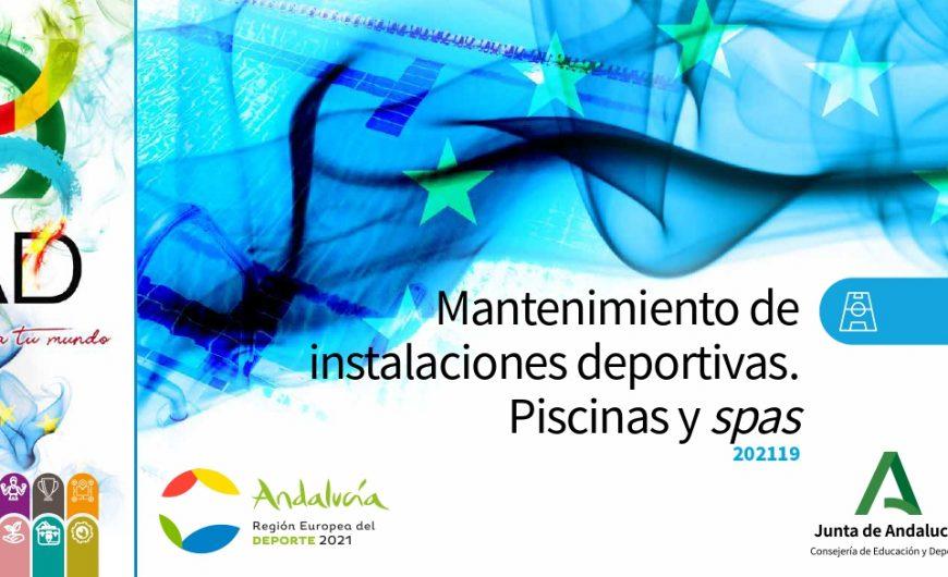 Formación mantenimiento piscinas y spas Instituto Andaluz deporte